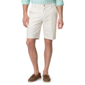 Men's Chaps Classic-Fit Poplin Flat-Front Shorts