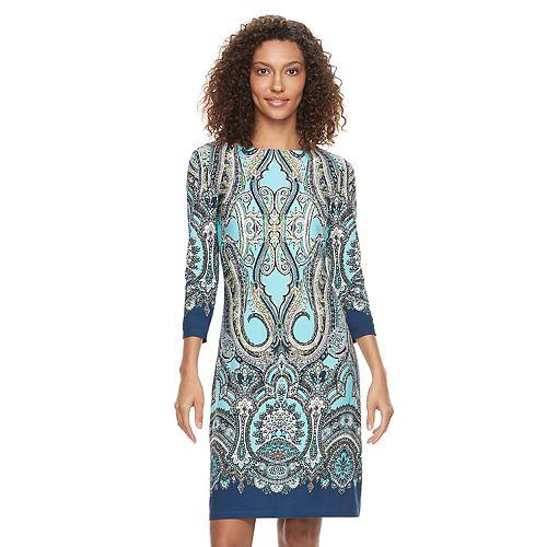 Women's Suite 7 Scroll Shift Dress