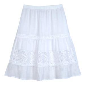 Girls 7-16 IZ Amy Byer White Gauze Skirt