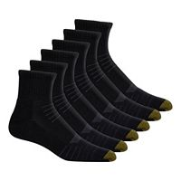 Men's GOLDTOE Tech Quarter-Crew 6-Pack Socks