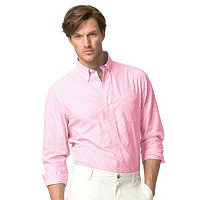 Men's Chaps Classic-Fit Striped Easy-Care Poplin Button-Down Shirt