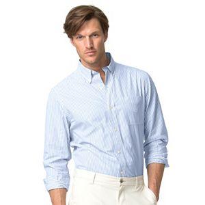 Men's Chaps Classic-Fit Striped Easy-Care Poplin Button-Down Shirt