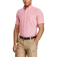 Men's Chaps Classic-Fit Houndstooth Easy-Care Button-Down Shirt