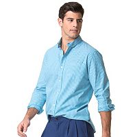 Men's Chaps Classic-Fit Plaid Poplin Stretch Button-Down Shirt