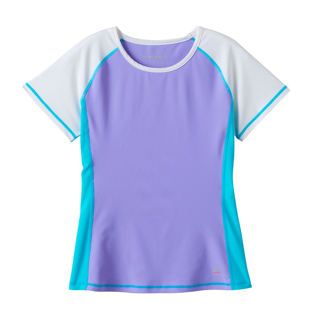 Girls 4-6x Free Country Colorblock Swim Rashguard