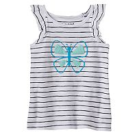 Toddler Girl Jumping Beans® Striped Graphic Tank Top