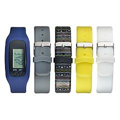 B-Fit Unisex Activity Tracker & Interchangeable Band Set - BA5375BK606-078