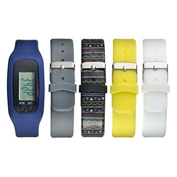 B-Fit Unisex Activity Tracker & Interchangeable Band Set - BA5375BK606-078