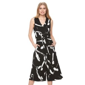 Women's DR by Donna Ricco Abstract  Culotte Jumpsuit