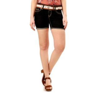 Juniors' Wallflower Luscious Curvy Midi Jean Shorts