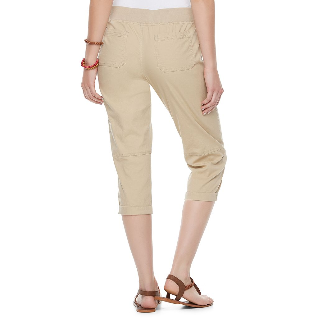 Juniors' SO® Utility Capris