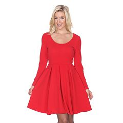 16600af1800646 Women s White Mark Solid Fit   Flare Dress