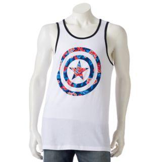 Men's Marvel Captain America Floral Tank