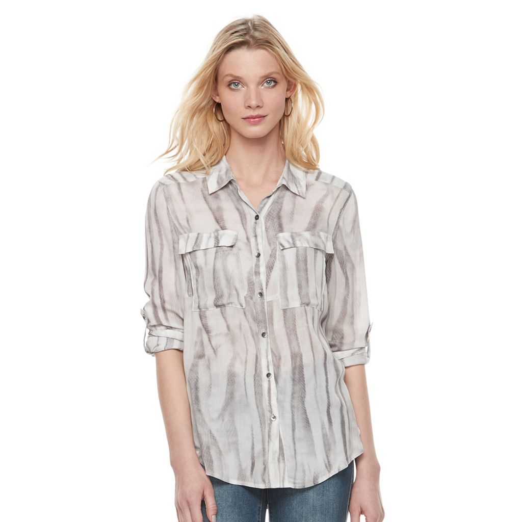 Women's Rock & Republic® Snakeskin Print Shirt