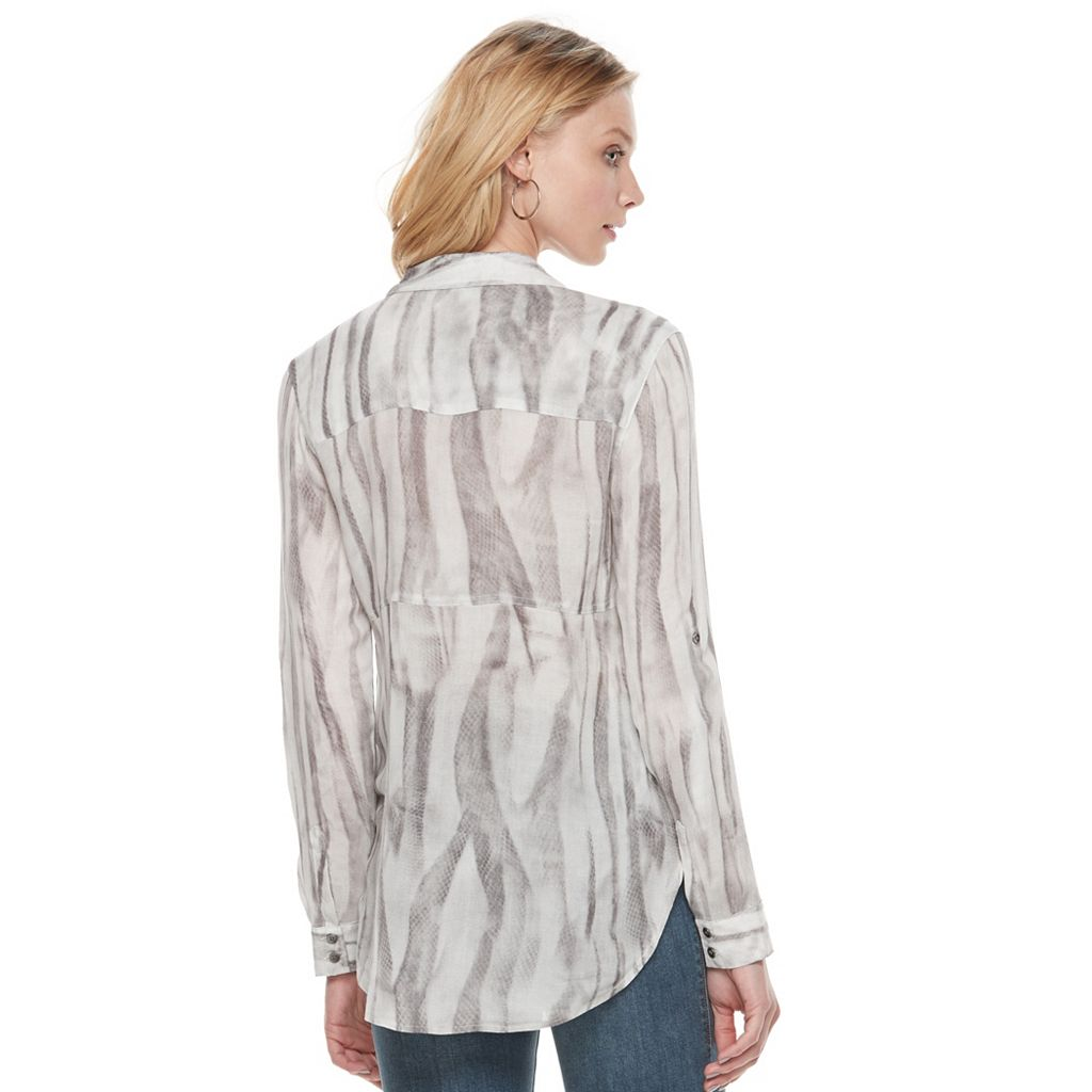Women's Rock & Republic® Snakeskin Print Shirt