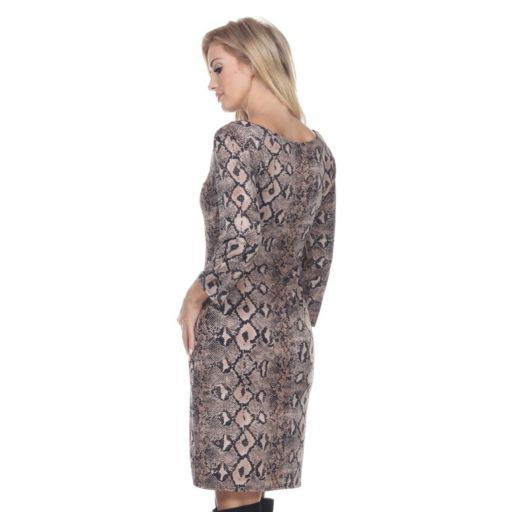 Women's White Mark Paisley Sheath Dress