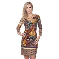 Women's White Mark Paisley Sheath Dress