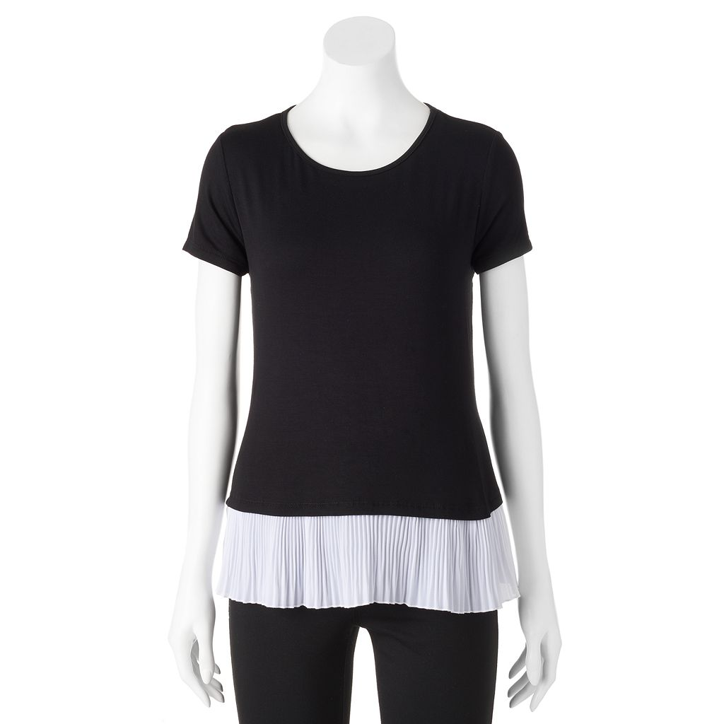 Women's ELLE™ Pleated Mock-Layer Tee