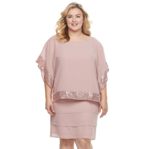 Women's Le Bos Embellished Capelet Tiered Dress