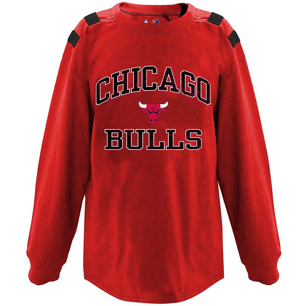 Big & Tall Majestic Chicago Bulls Shoulder Panel Tee