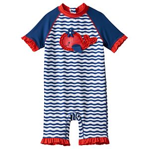 Baby Girl Wippette Whale Rashguard Wet Suit
