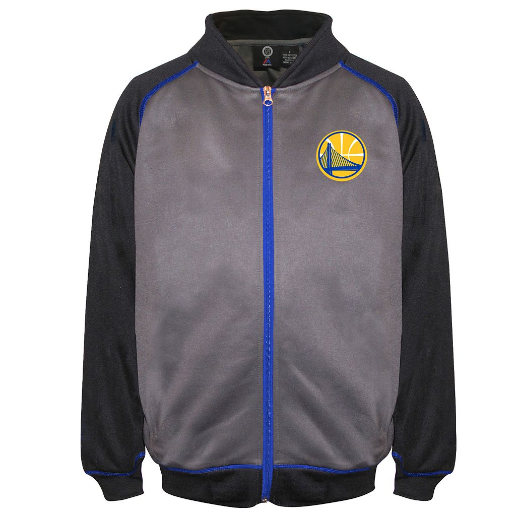 Big & Tall Majestic Golden State Warriors Fleece Zip-Up Jacket