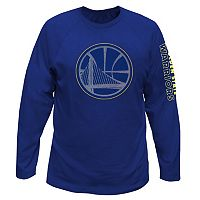 Big & Tall Majestic Golden State Warriors Reflective Logo Tee