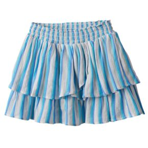 Girls 4-12 SONOMA Goods for Life? Striped Smocked Waist Tiered Skort