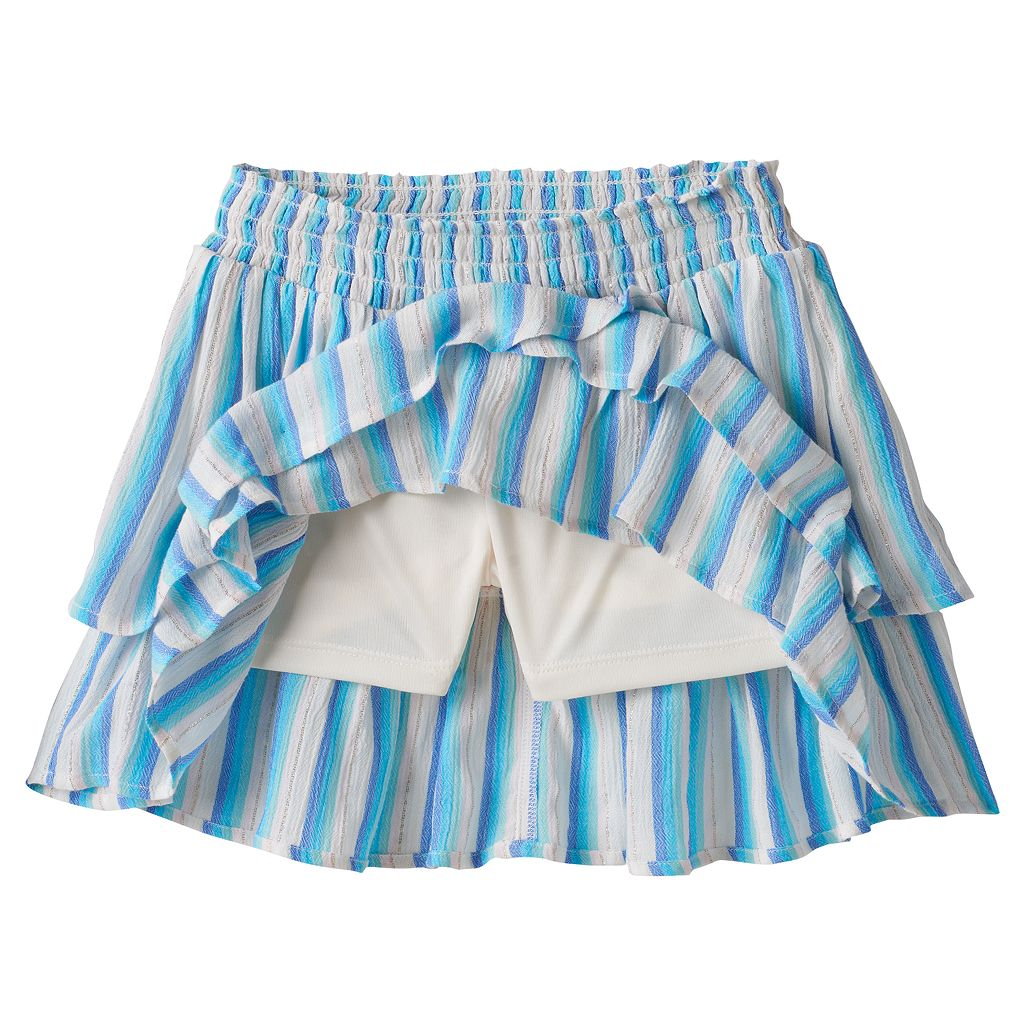 Girls 4-12 SONOMA Goods for Life™ Striped Smocked Waist Tiered Skort