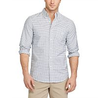 Men's Chaps Classic-Fit Plaid Stretch Oxford Button-Down Shirt