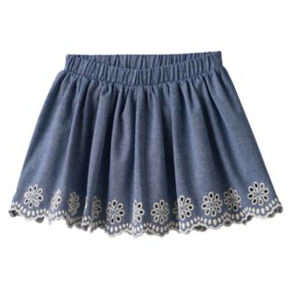 Girls 4-12 SONOMA Goods for Life™ Chambray Eyelet Scallop Hem Skort