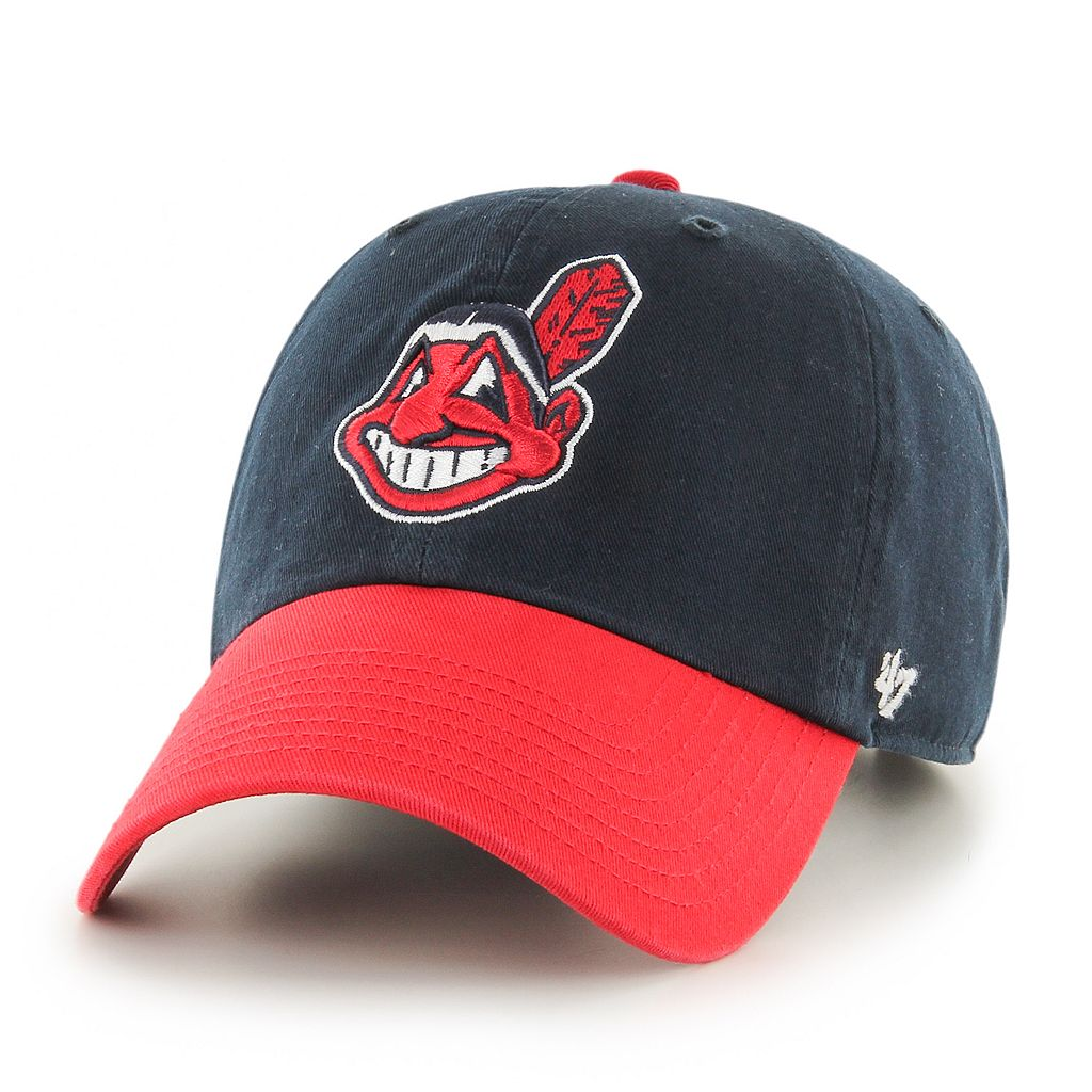 Adult '47 Brand Cleveland Indians Alternate Clean Up Adjustable Cap
