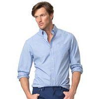 Men's Chaps Plaid Twill Button-Down Shirt