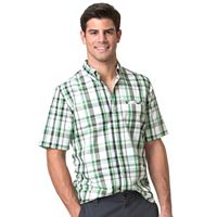 Men's Chaps Plaid Outdoor Easy-Care Performance Button-Down Shirt