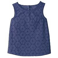 Girls 4-12 SONOMA Goods for Life™ Woven Eyelet Overlay Tank Top