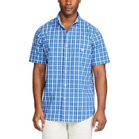 Men's Chaps Classic-Fit Plaid Poplin Easy-Care Button-Down Shirt