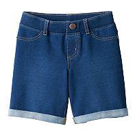 Girls 4-10 Jumping Beans® Rolled Cuff Denim Bermuda Shorts