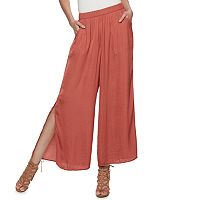 Women's Jennifer Lopez Vented Wide-Leg Soft Pants