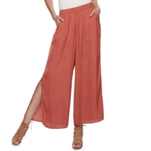 Women's Jennifer Lopez Vented Wide-Leg Soft Pants
