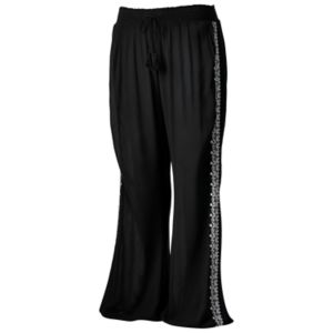 Juniors' Plus Size Mudd® Embroidered Wide Leg Pants