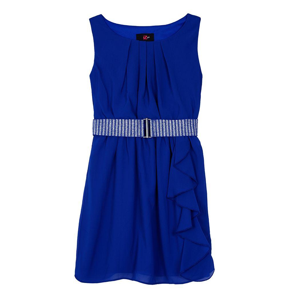 Girls 7-16 IZ Amy Byer Belted Ruffle Dress