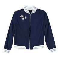 Girls 7-16 IZ Amy Byer Patch Applique Navy Bomber Jacket