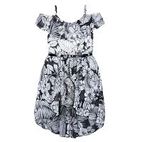Girls 7-16 Speechless Floral Off Shoulder High-Low Hem Dress