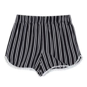 Girls 7-16 IZ Amy Byer Pom-Pom Trim Striped Shorts