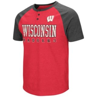 Men's Colosseum Wisconsin Badgers Spotter Henley