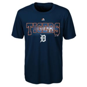Boys 8-20 Majestic Detroit Tigers Light Up the Field Cool Base Tee