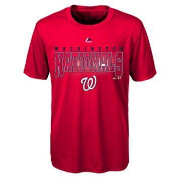 Boys 8-20 Majestic Washington Nationals Light Up the Field Cool Base Tee