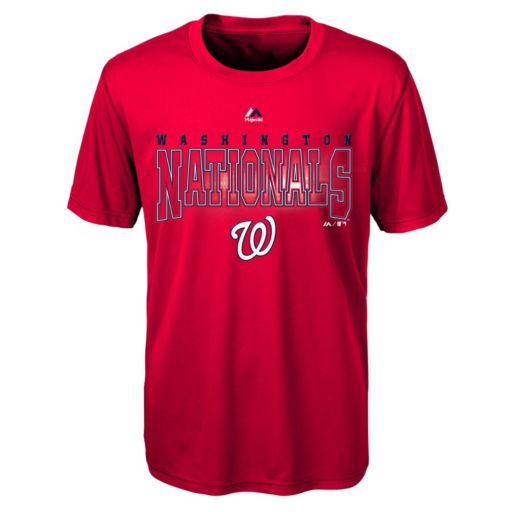 Boys 8-20 Majestic Washington Nationals Light Up the Field Cool Base Tee