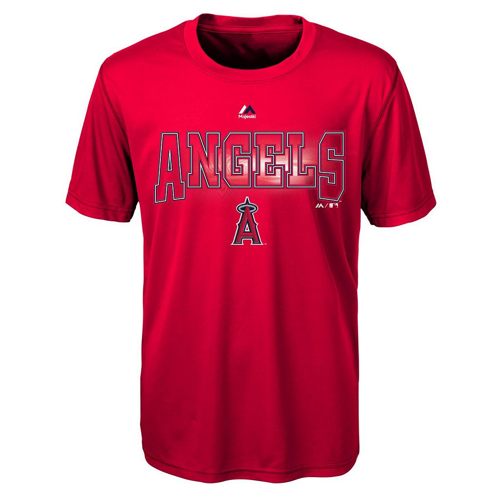 Boys 8-20 Majestic Los Angeles Angels of Anaheim Light Up the Field Cool Base Tee