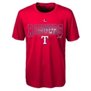 Boys 8-20 Majestic Texas Rangers Light Up the Field Cool Base Tee